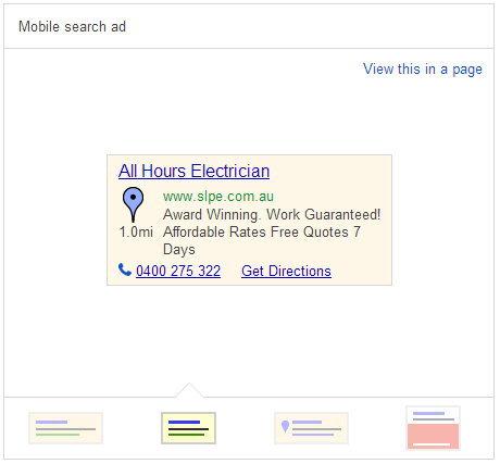 Mobile Search ad